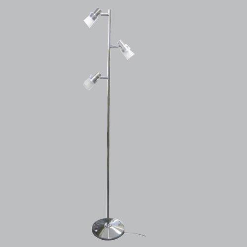 ヤザワ LEDフロアスタンド3灯クローム フットスイッチ 3Wアンバー色LED3灯使用 FSLE300CH   B0076GZTXE