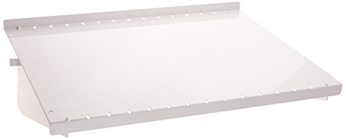 Wall Control ASM-SH-1612 W 12'' Deep Pegboard Shelf Assembly for Wall Control Pegboard Only, White by Wall Control