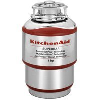 KitchenAid KCDS100T 1 hp Continuous Feed Food Waste Disposer, Red