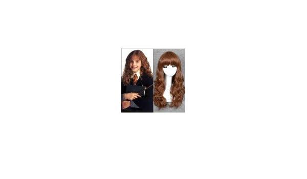 Hermione Harry Potter peluca de alta calidad (Adulto/NIño ...