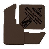 CRL 7/16'' Bronze Square Cut With Lift Tab Plastic Screen Frame Corner With Warning - 100 Pack by C.R. Laurence