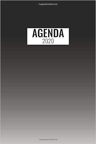Agenda 2020: Gennaio A Dicembre 2020 / Nero Bianco / 1 ...