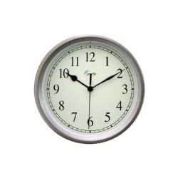 Equity by La Crosse 28283 8 Inch Brushed Titanium Wall Clock
