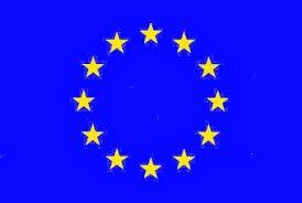 Bandiera Ufficiale dell´ Unione europea di Saten - Dimensione 150 x 90 cm Durabol