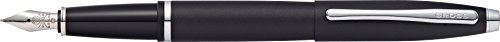 (Cross Calais Matte Black Fountain Pen with Stainless Steel Medium Nib)