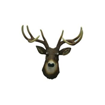 8 Point Buck Deer Head Bust Wall Hanging