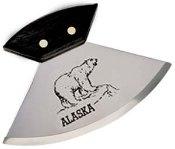 """6"""" Walnut Ulu with Polar Bear Etching Knife"""