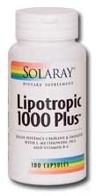 Solaray - lipotrope 1000 Plus - 100 capsules