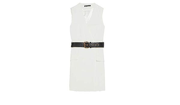 Zara vestido estilo blazer con cinturón para mujer 7752/250 ...