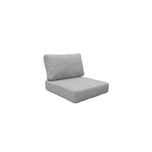 Chair Low Back Cushion - TK Classics Covers for Low-Back Chair Cushions 6 inches Thick in Grey