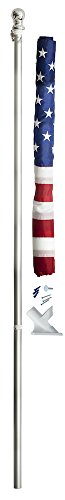 Valley Forge Flag 2.5' x 4' Nylon American Flag Kit with 5-Foot Aluminum Spinning Pole and - Kit Nylon Flag