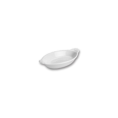 Hall China 526 1/2-WH White 6 Oz. Oval Rarebit Dish - 24 / CS