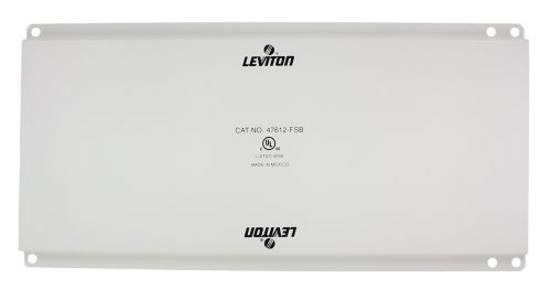 - Leviton 47612-FSB Full Width Universal Security Plate with PCB Mounting Clips, White