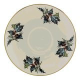 (Lenox Winter Greetings Saucer,Ivory, Gold)