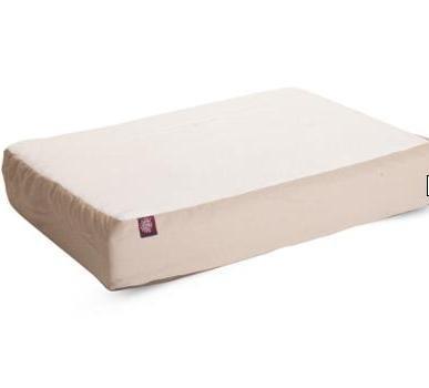 34x48 Khaki Orthopedic Double Pet Dog Bed By Majestic Pet Products  Large Cushion to Extra Large With Removable Washable (Sheepskin Orthopedic Foam)