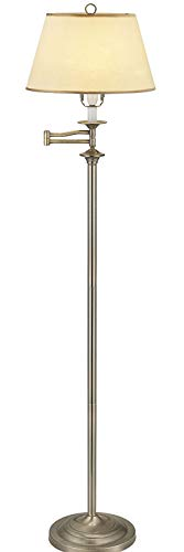 Belfry Swing Arm Floor Lamp, Antique Brass finish supplied complete with...