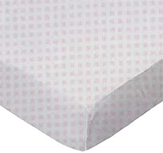 product image for SheetWorld Crib / Toddler Sheet - Pink Gingham Jersey Knit - Made In USA