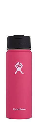 (Hydro Flask 20 oz Travel Coffee Flask   Stainless Steel & Vacuum Insulated   Wide Mouth with Hydro Flip Cap   Watermelon)