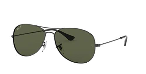 Ray-Ban RB3362 004/58 Cockpit Gunmetal Frame / Green Polarized ()