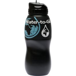 Water Purification Filter Bottle (75cl) Removes Contaminants by 99.9% based on technology originally developed for the NASA space programme