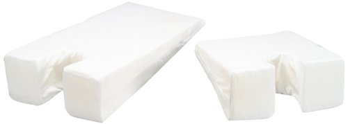 Hermell Face Down Wedge Cushion, U Shaped Foam, Gently Sloping, Minimizes Back Strain, Size Large, Removable Cover - White -
