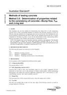 AS 1012.3.5:2015 Methods of testing concrete - Determination of properties related to the consistency of concrete - Slump flow, T500 and J-ring (Concrete Slump)