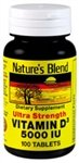 Nature?s Blend Vitamin D3, 5000 IU 100 Tablets For Sale