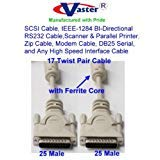 - SuperEcable SKU-20120 - SCSI Cable, IEEE-1284 BI-Directional RS232 Cable DB25 Male - Male, 6 Ft