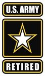 (US Army Retired decal 3.25