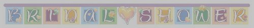 Symbols of Love Bridal Shower Jointed Banner 6.6 Feet (Pack of 5)