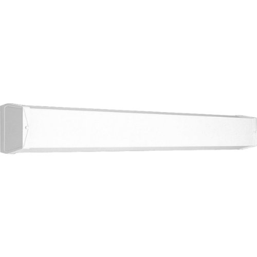 Progress Lighting P7131-30EB Utility Bath Bracket with Ribbed Acrylic Diffuser and Knockout For G.C.O, ()