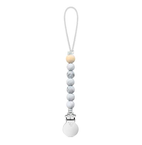 Ryan & Rose Beaded Pacifier Cutie Clip (Marble, Charley)