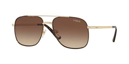 Vogue Woman Sunglasses, Gold Lenses Metal Frame, ()
