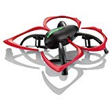 Hover-Way 2.4 GHz Drone with Auto Hover, 6 Axis Gyro & Gaming Style Remote Control - Black / Red Flapperbot