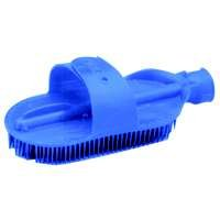 Plastic Curry Comb with Strap & Hose Attachment, Blue