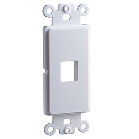 Cooper Wiring Devices 5521-5EW Decora-Style Mounting Strap with 1 Port - White