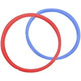 Instant Pot Replacement Silicone Sealing Ring for Electric Pressure Cookers (6L Red/Blue)