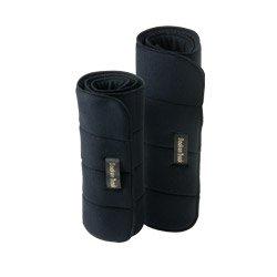 Back On Track Standard Leg Wraps, 30cm x 40cm size - Black - Boots & Bandages by Horze
