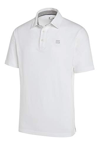 Three Sixty Six Golf Shirts for Men - Dry Fit Cotton Polo Shirt - Includes 20 Golfing Tees White