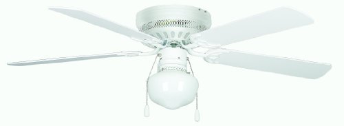 Concord Fans Hugger Ceiling Fan with Schoolhouse Kit