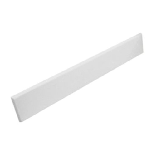 Swanstone VT02103SS.010 Ellipse/Contour Solid Surface 1-piece Vanity Side Splash, 0.375-in L X 21-in H X 3-in H, White