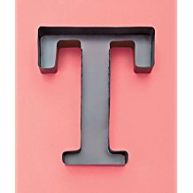 Personalized Letter T Metal Wall Wine Cork Holder - Monogram Wall Art