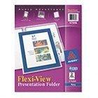 - Avery 47846 - Flexi-View Two-Pocket Polypropylene Folders, Navy/Translucent, 2/Pack-AVE47846