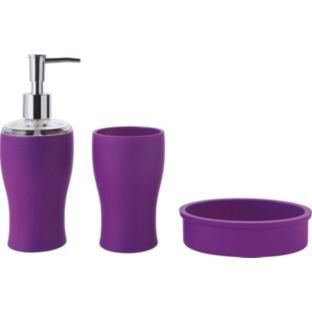 bathroom accessories set purple fizz 883346444