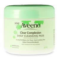 Aveeno Clear Complexion Daily Facial Cleansing Pads With Sal