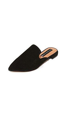 STEVEN by Steve Madden Women's Valent Slip-on Loafer Black Suede
