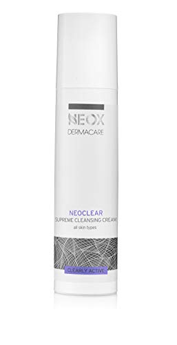 NeoClear Supreme Cleansing Cream by NEOX DERMACARE: All-in-One Soapless Makeup Remover, Deep Clarifying Cleanser for All Skin Types for Face and Neck