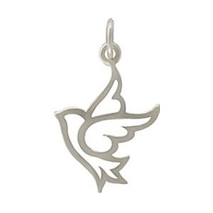 Amazon open design dove pendant or charm in sterling silver open design dove pendant or charm in sterling silver 8353 mozeypictures Image collections