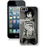 iPhone 5S case,Custom Design Phone Case with Shingeki No Kyojin Upscale Mikasa Ackerman Yoshihiro Drawing Girl White For iPhone 5S Generation Case TT Phone Case