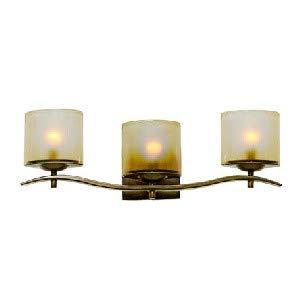 (Kalco 2993-TN Stapleford - Three Light Bath Bar, Tuscan Sun Finish with Opal Glass)